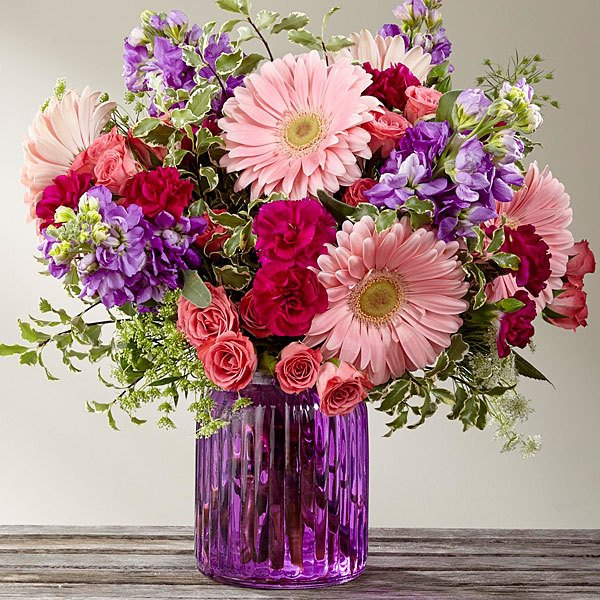 The Ftd 174 Purple Prose Bouquet By Better Homes Amp Gardens